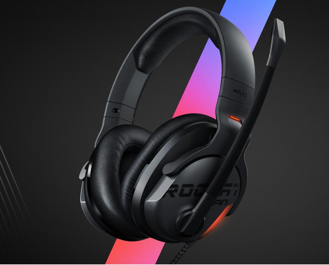 ROCCAT Khan AIMO - Auriculares RGB Gaming 7.1 Sonido Envolvente (REACOs)