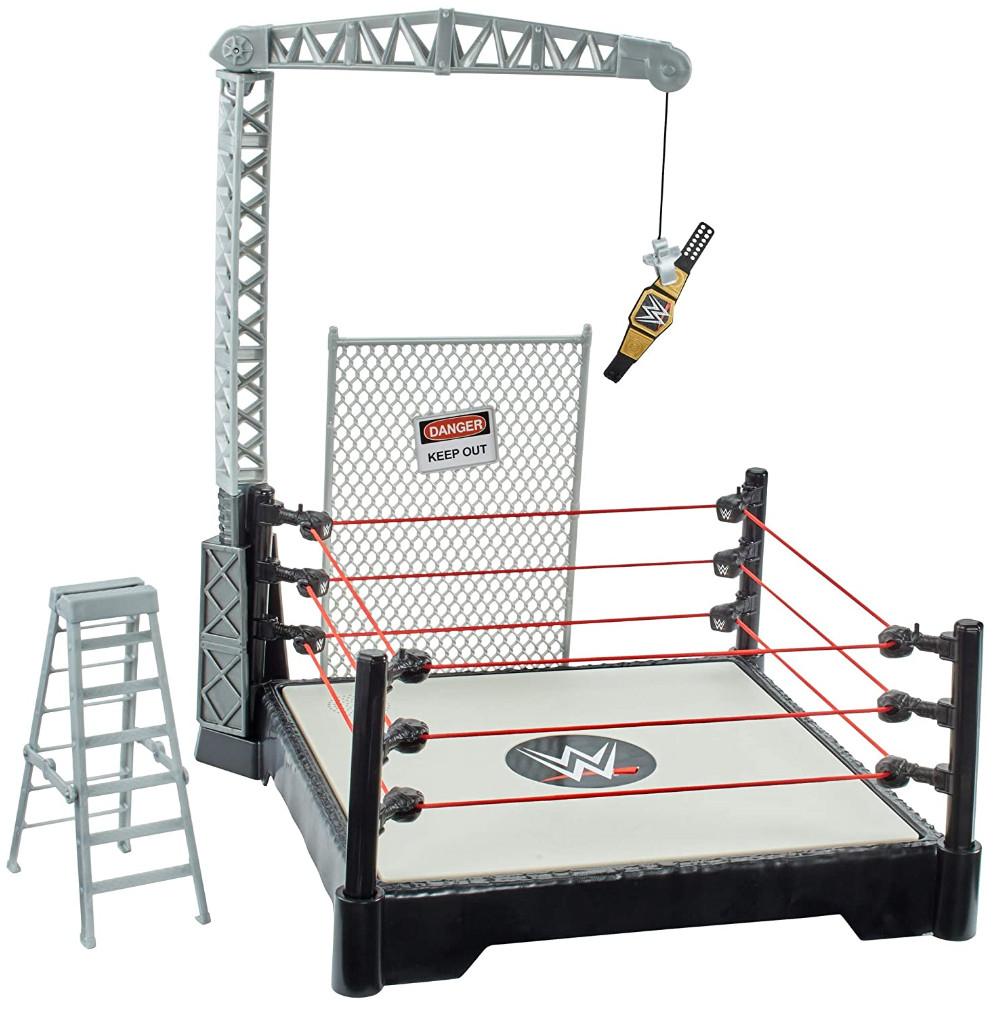 Ring de impacto para figuras WWE (Cuerdas con sonido, ruido de público, golpes ...)
