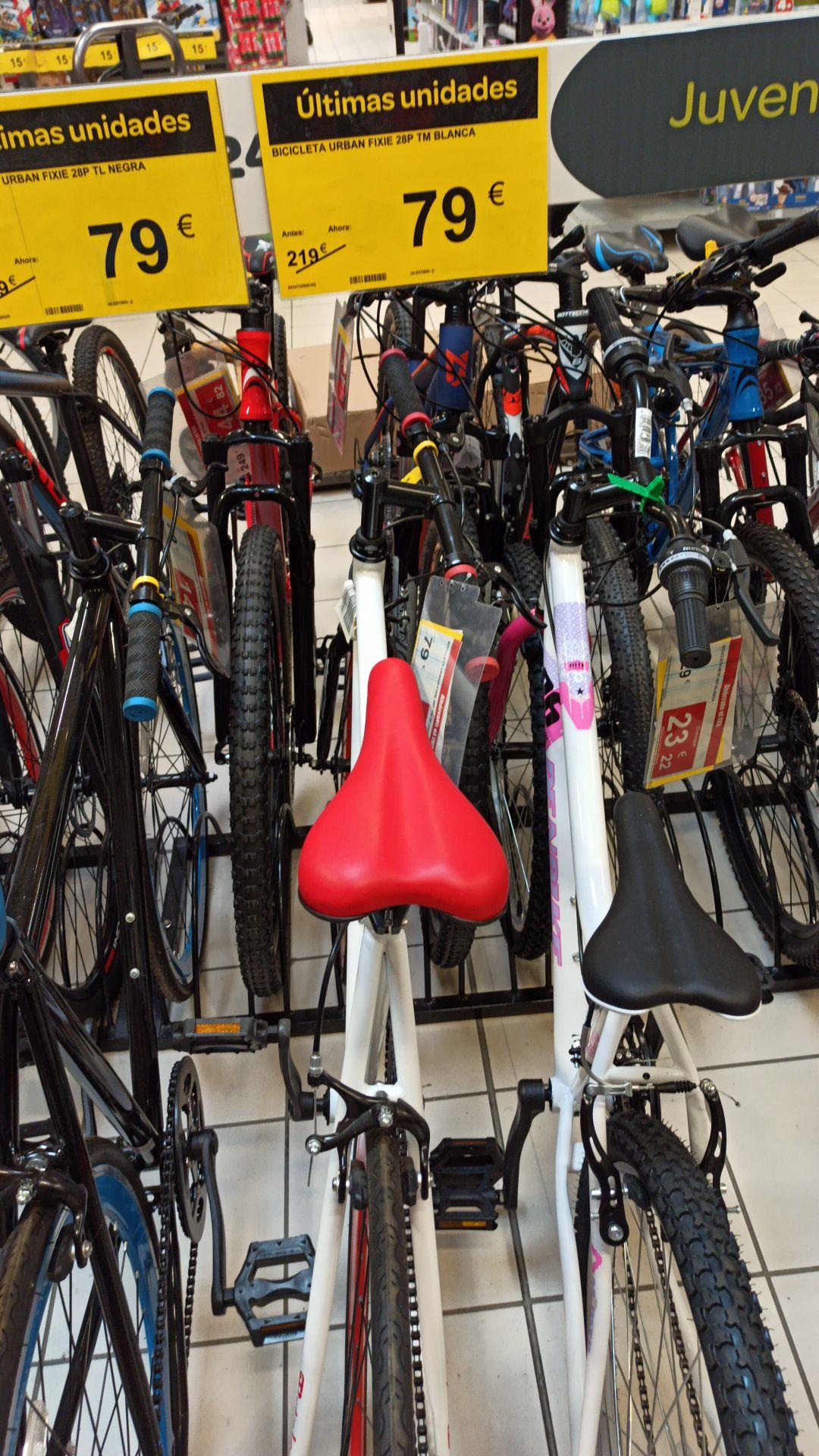 Bici fixie en liquidación (Carrefour Andujar)