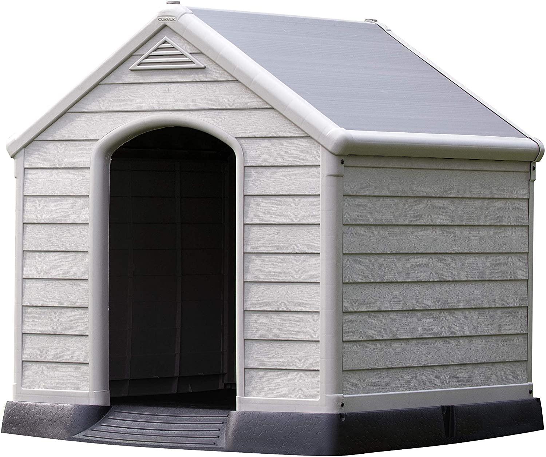 Caseta de perro para jardín, Color topo/beige, 95x99x99 cm