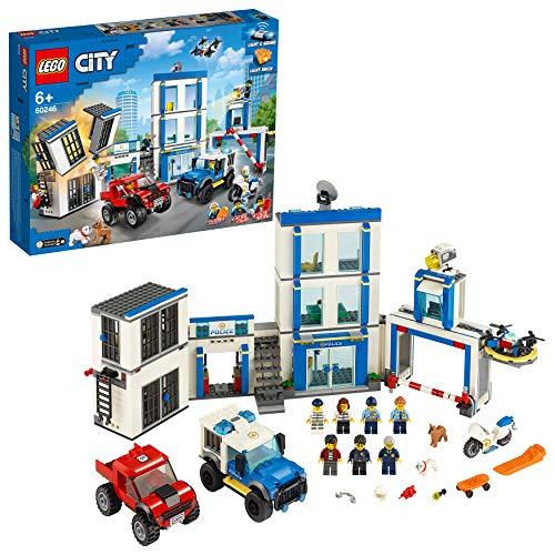 LEGO City Police - Comisaría de policía, juego de construcción, incluye celda de juguete (pecio al tramitar)