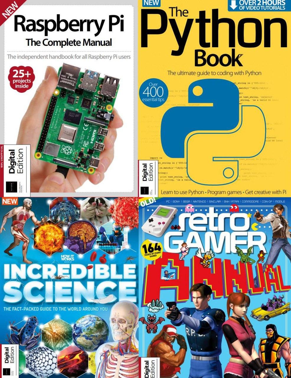 Revistas gratis en inglés sobre programación, juegos retro y ciencia