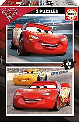 Cars 3, 2 Puzzles 48 Piezas, marca educa