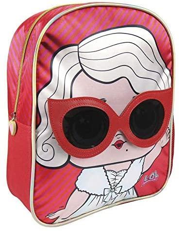 LOL Mochila Infantil, 31 cm, Rojo marca cerdá, producto oficial