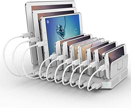 Alxum Estación de Carga USB para Dispositivos múltiples