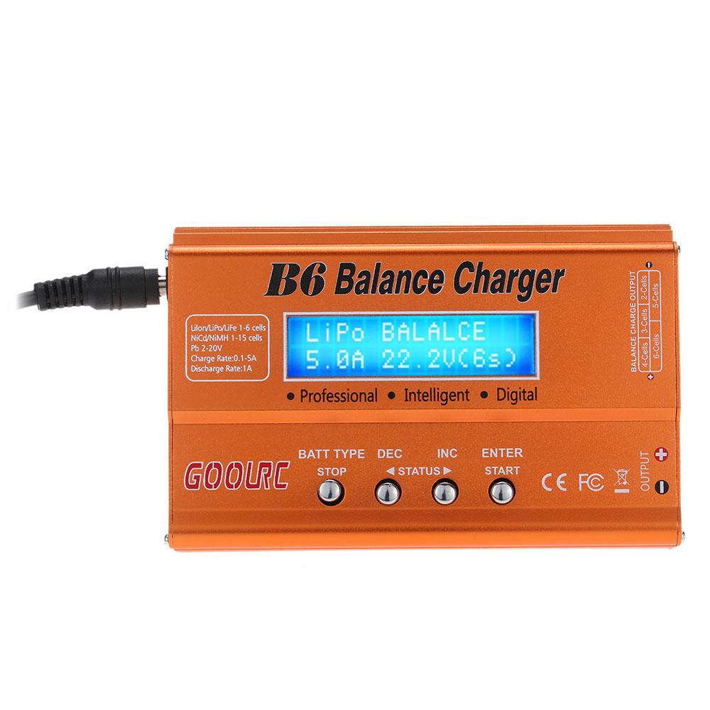 Cargador/balanceador de baterias GoolRC B6 (fuente alimentacion incluida)