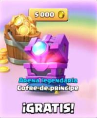 Cofre de príncipe + 5000 de oro - Clash Royale