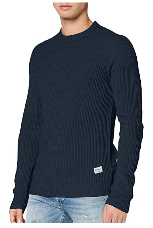 TALLAS S y XXL - Jack & Jones Jorpannel Knit Crew Neck. Suéter para Hombre (Desde 8.24€)