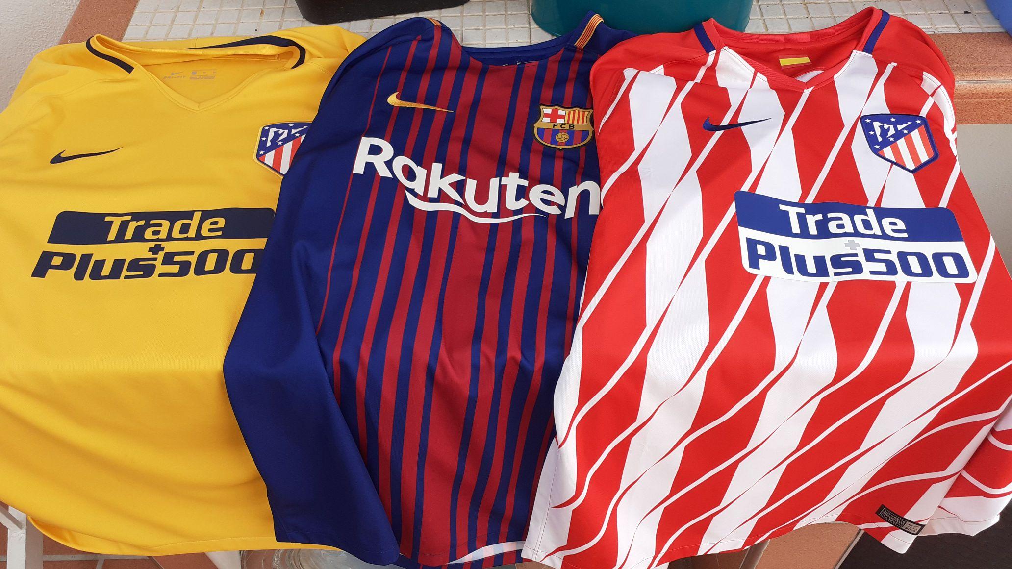 Camisetas del Barcelona y Atlético de Madrid en el ECI Outlet