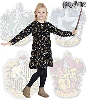Harry Potter. Merchandising Vestidos para Niña de Fiesta Gryffindor Magia Hogwarts(7,84 talla 4años)