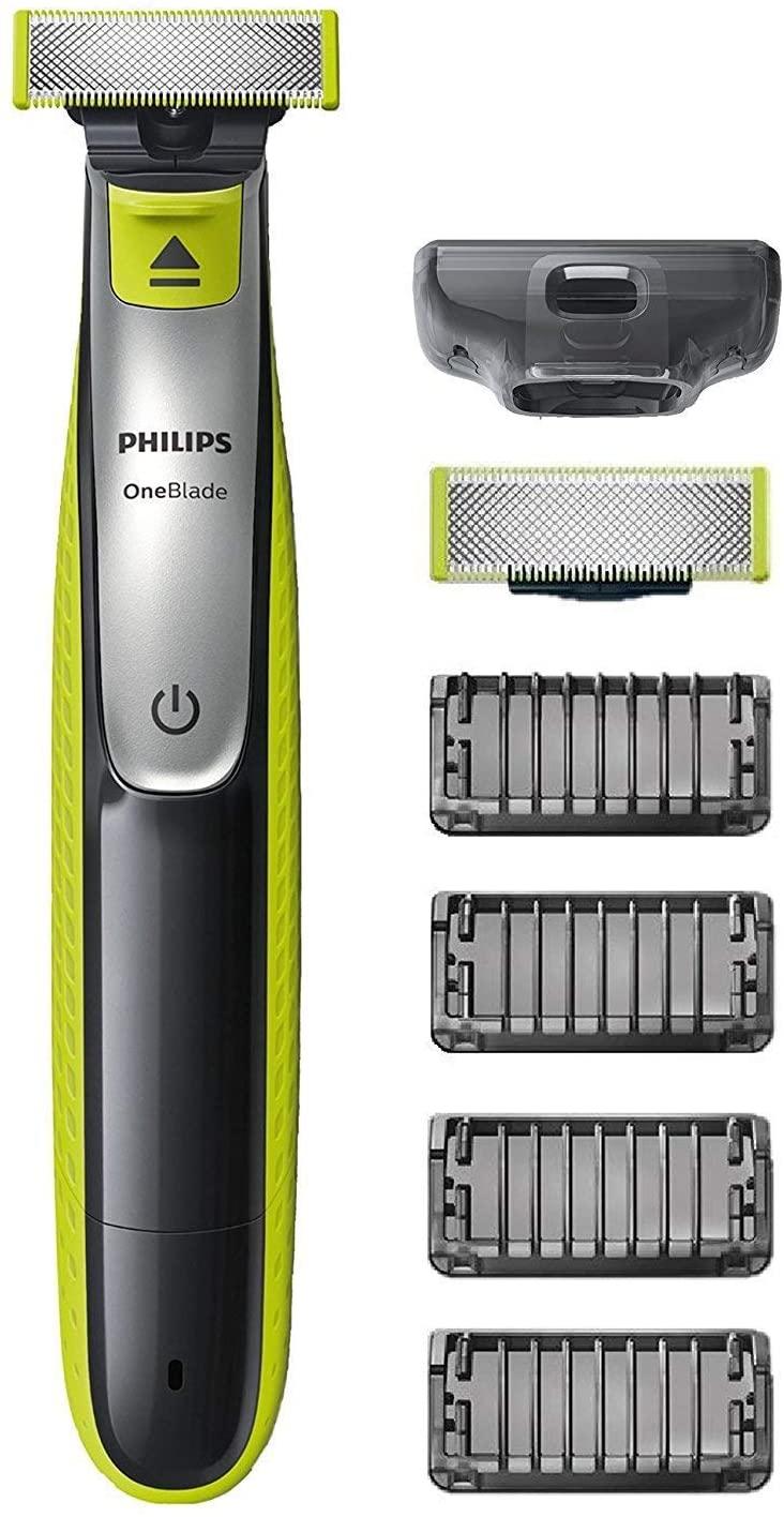 Philips OneBlade QP2530/30 - Recortador de Barba con 4 Peines de 1,2,3,4,5