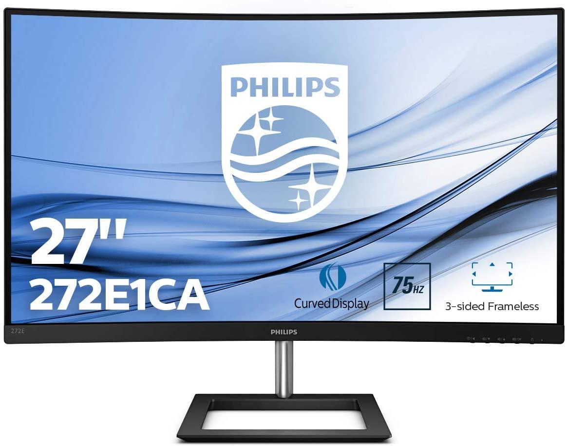 """Philips 272E1CA/00 Monitor de 27"""" Curvo FHD FreeSync Flickerfree y Altavoces incorporados"""
