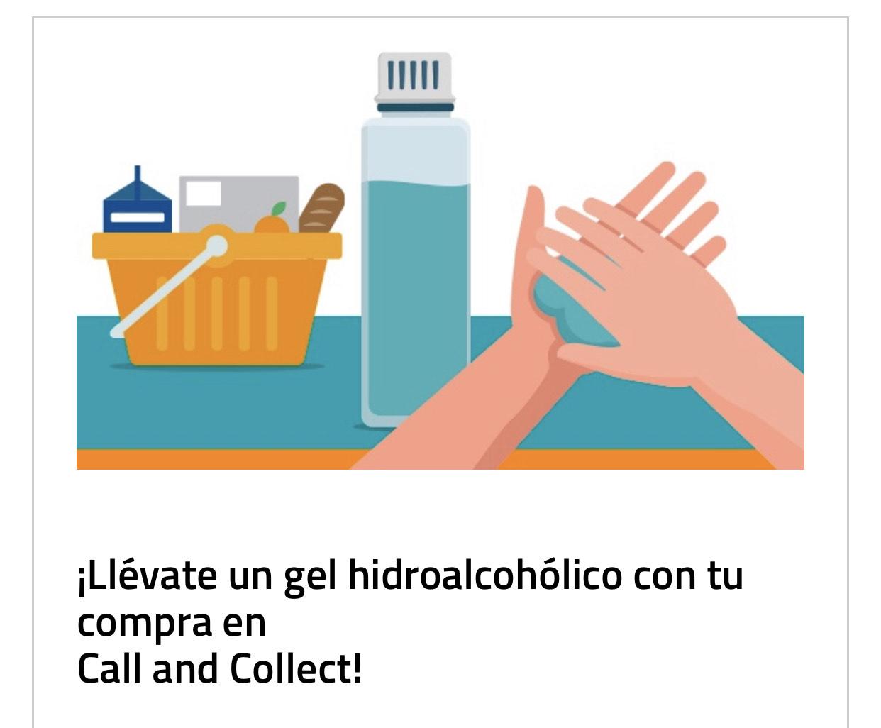 Gel hidroalcohólico gratis en Repsol