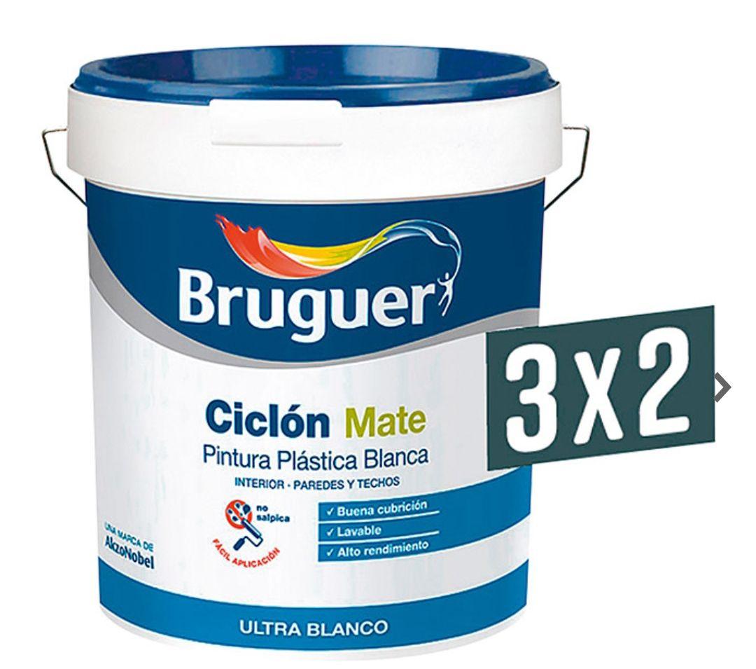 3x2 Bruguer Pintura para paredes Ciclón Mate 15l