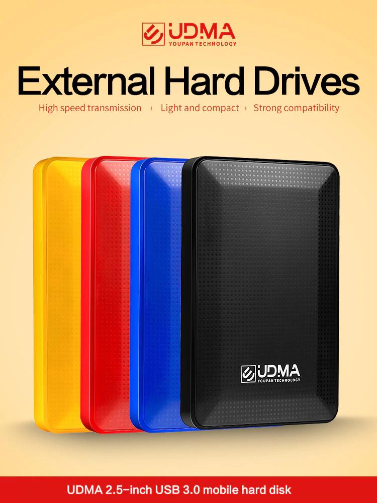UDMA 2,5 USB 3.0 portátil Disco duro externo 500GB (varios colores y almacenajes)