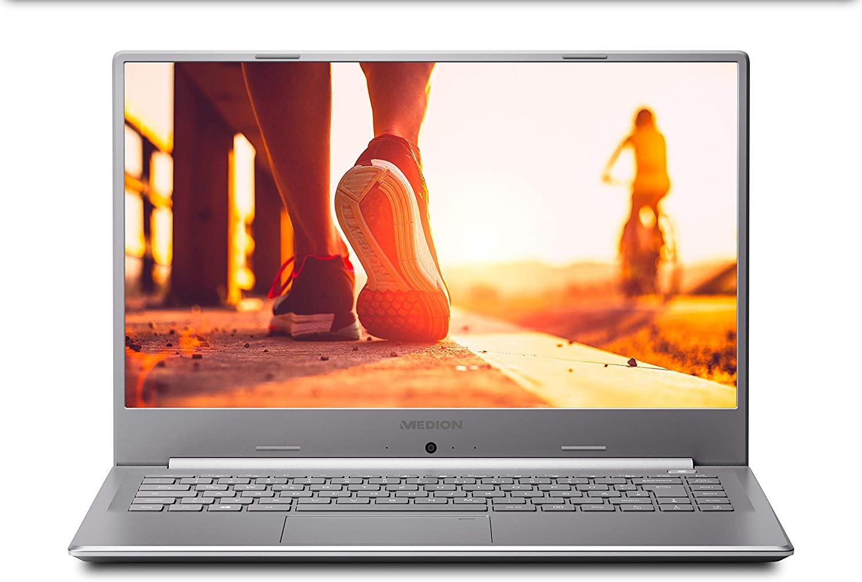 "Medion Akoya S6445 - Portátil ultrafino 15.6"" FullHD (Intel Core i5-8265U, 4GB RAM, 128GB SSD,"