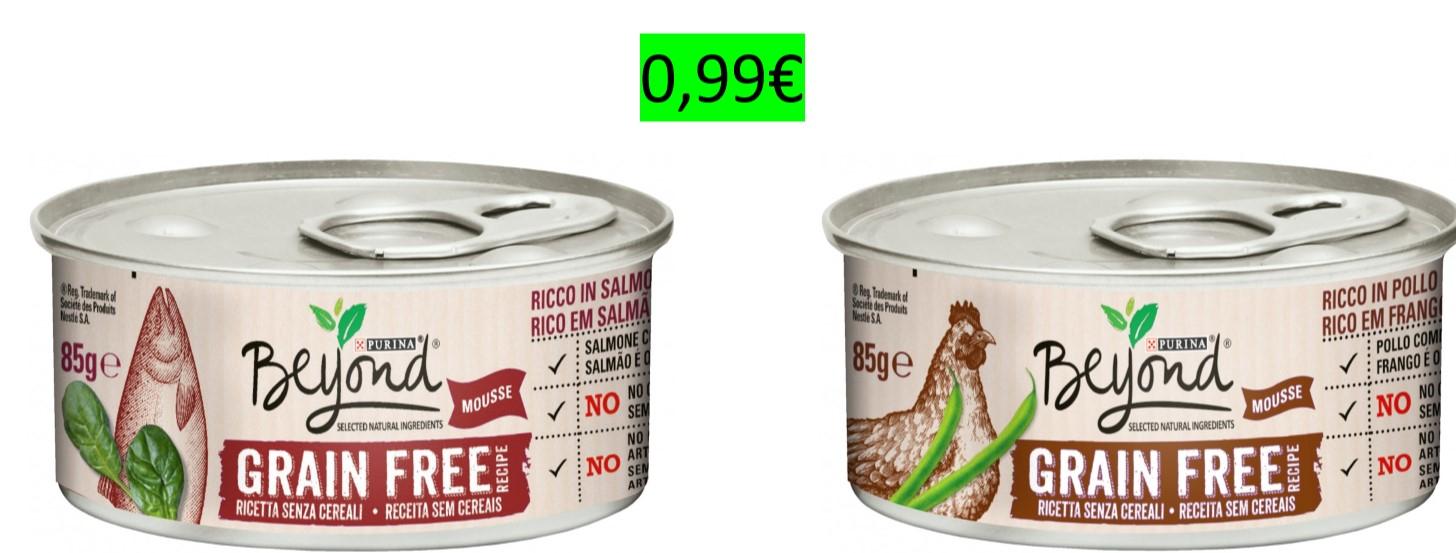 2 latas de Comida Húmeda Purina Beyond Grain Free por 0,99€ (2x1)