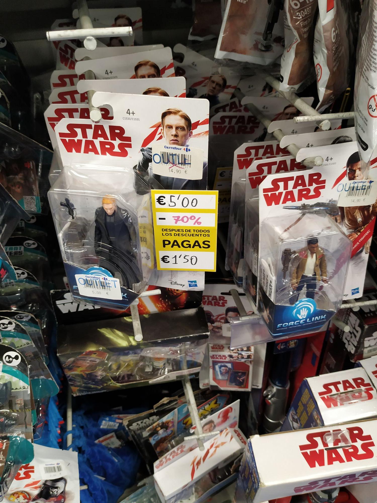 Figuras Star Wars 1,50€ varios modelos.