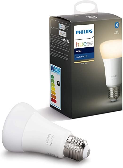 Philips Hue Bombilla Inteligente LED E27, descuento al adquirir Amazon Echo