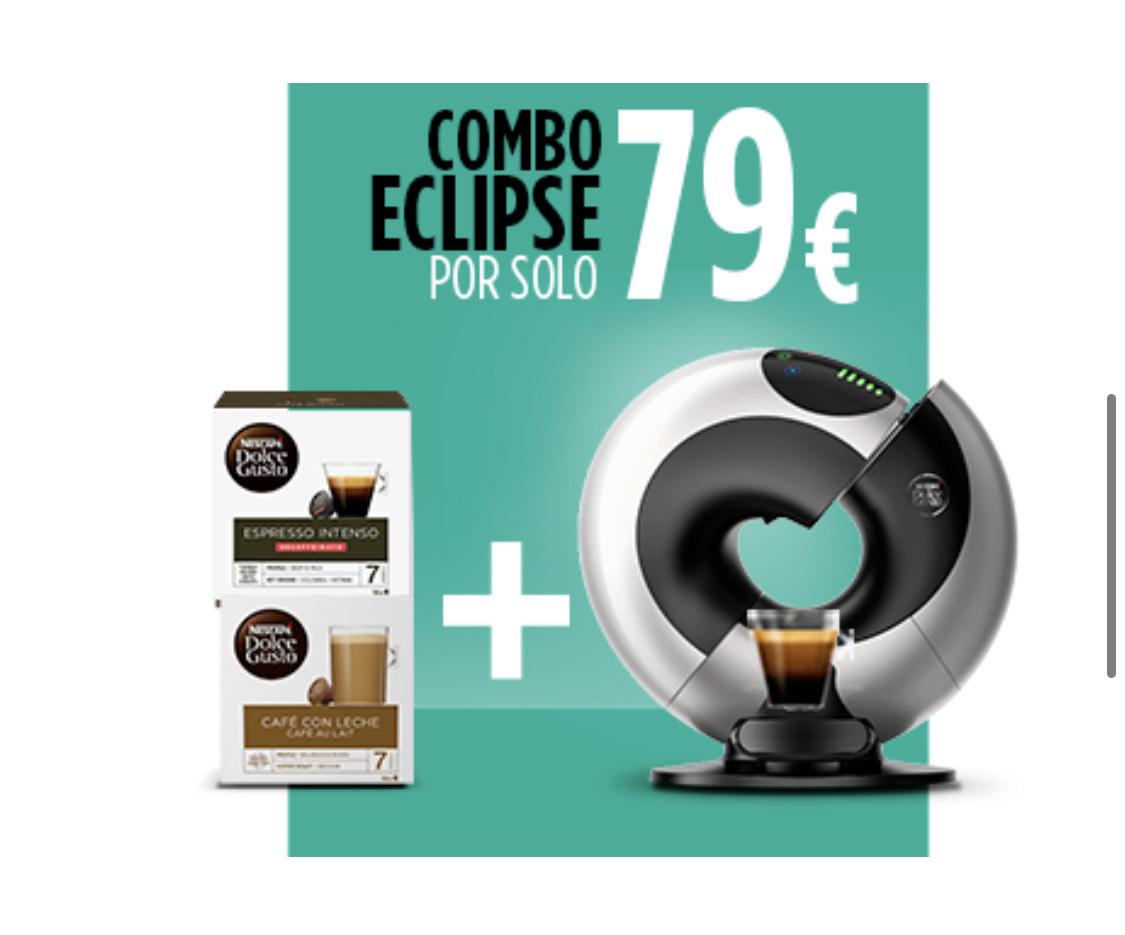Cafetera Dolce-Gusto Eclipse automatica + 2 Cajas de café