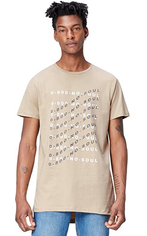 TALLA L - find. Camiseta con Estampado Gráfico para Hombre