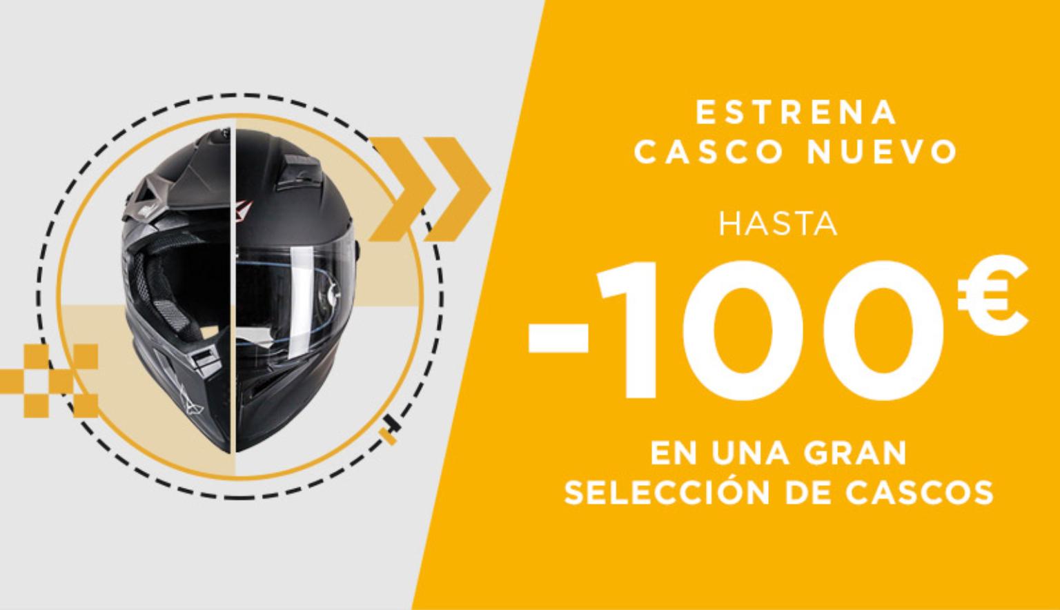 Rebajas hasta 100 euros en cascos