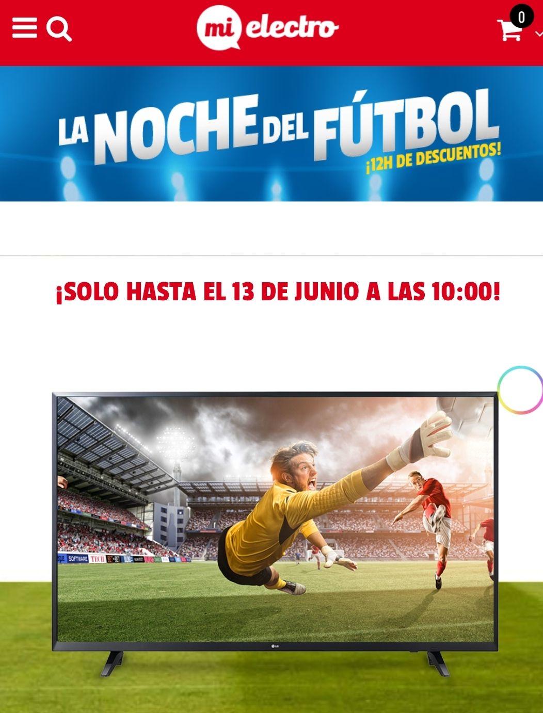Noche del fútbol, descuentos en televisores