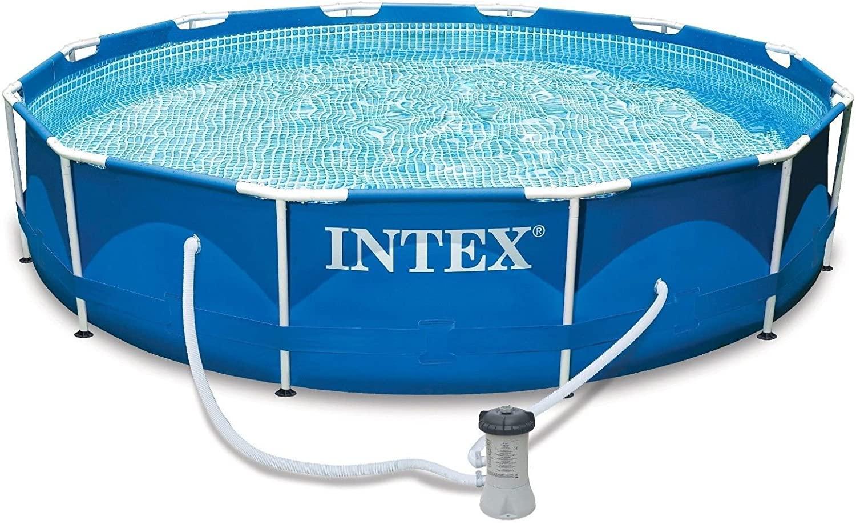 Piscina 366x84 +Flotador cloro+Cubierta protectora +Termómetro+Skimmer+ Depuradora con filtro. (Disponible 27 Junio)