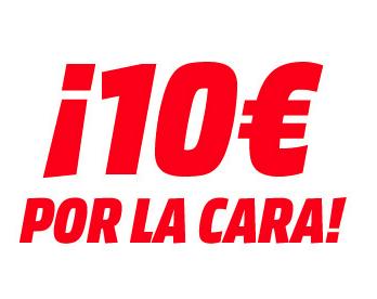 """10€ de descuento """"Por la cara"""" de Media Markt"""