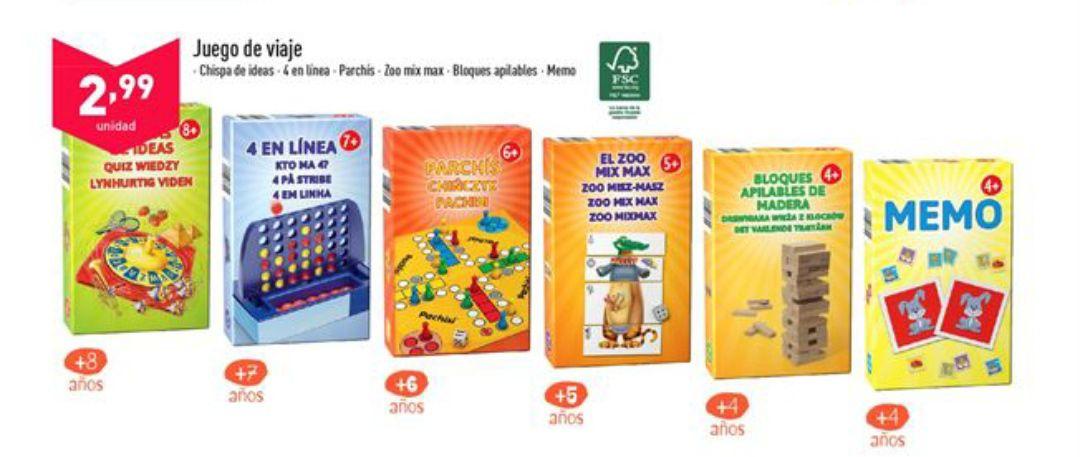 6 Juegos de viaje a sólo 2'99€ unidad (Disponible 27 de junio)