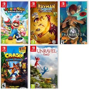 Nintendo Switch :: Descuentos Unravel 2, Mario + Rabbids, Rayman Legends, Transistor y Crash Bandicoot N. Sane Trilogy