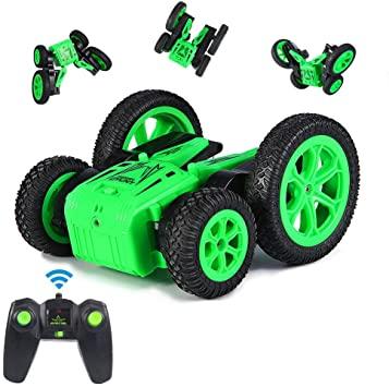 Coche teledirigido con control remoto inteligente, color verde