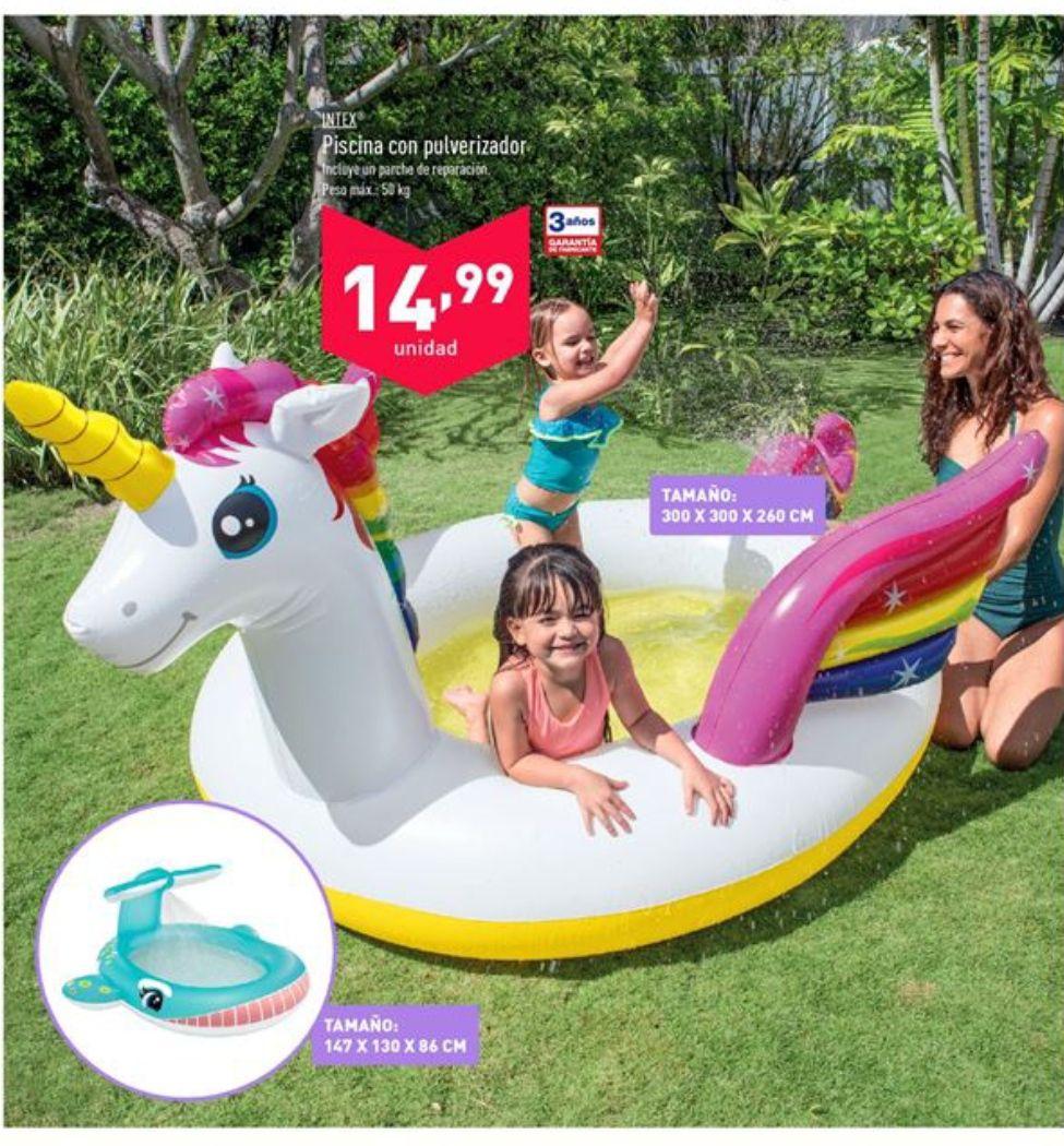 Ofertas Piscinas Unicornio o Ballena para Niños o plegables (Disponible 13 de junio)