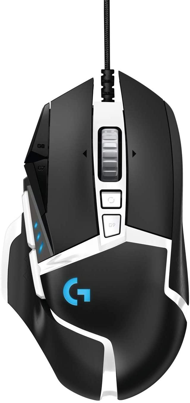 Logitech G502 HERO Cable Alto Rendimiento, Sensor HERO16K, 16 000 DPI, 11 Botones Programables, Memoria Integrada- Versión Allemana