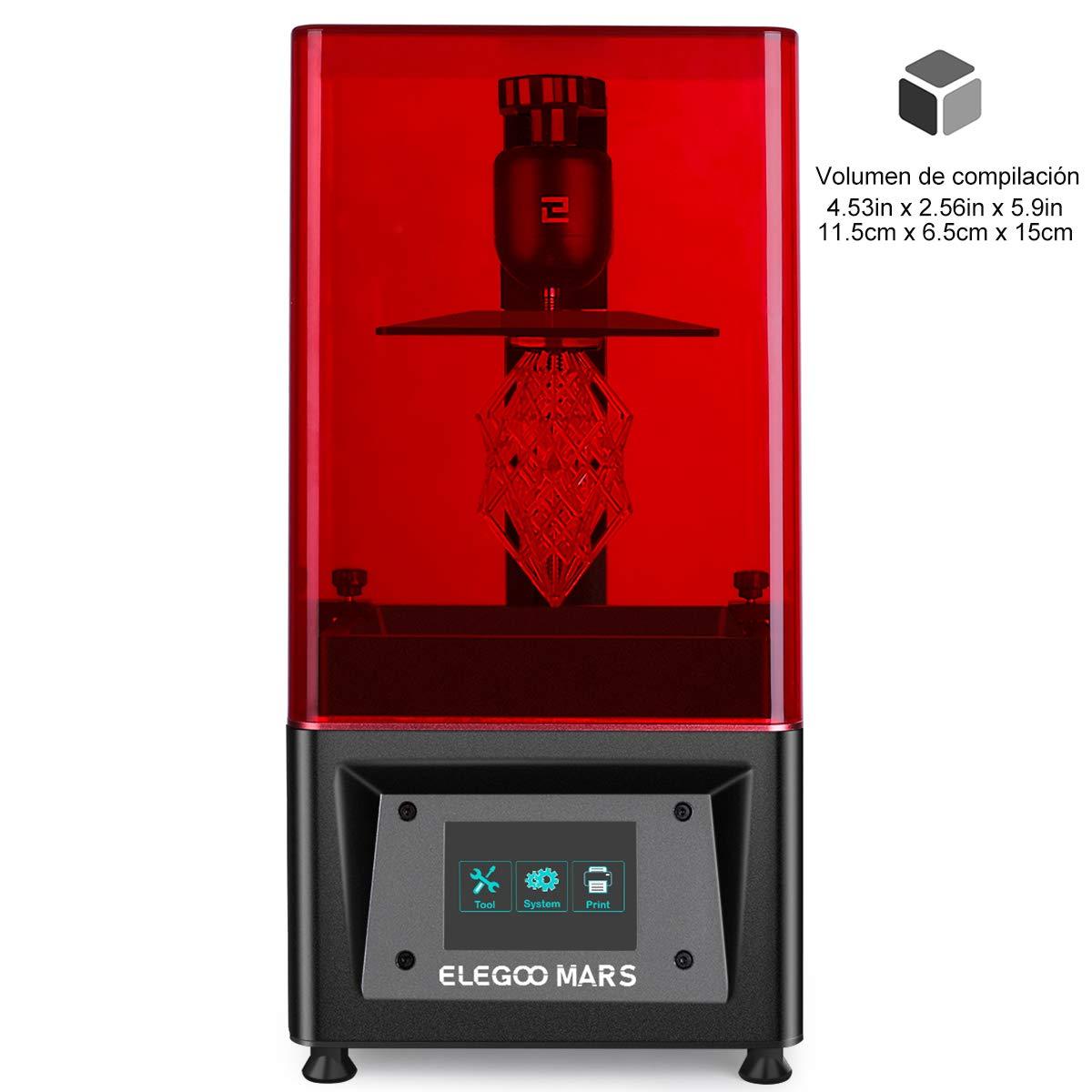 Impresora 3D de resina ELEGOO MARS 20€ mas barata