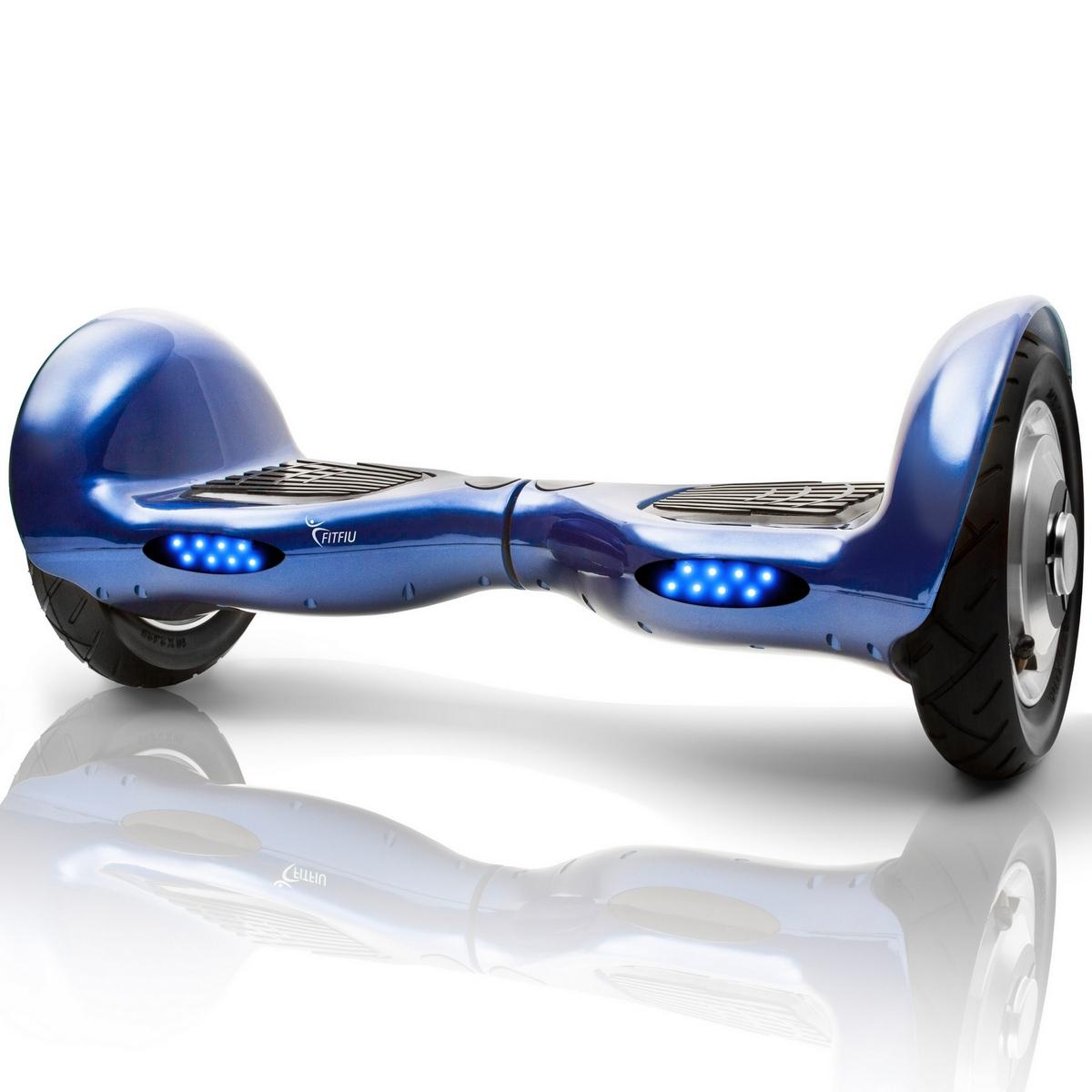 """Patinete electrico 10"""" motor 2x500W con Bluetooth Altavoces y Bolsa –FITFIU"""
