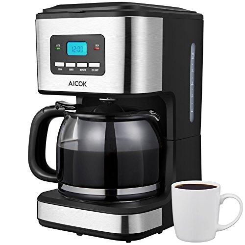 Aicok - Cafetera 1.8 Litros. 12 Tazas 900W