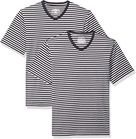 Camiseta holgada a rayas de manga corta (Pack de 2, talla S)