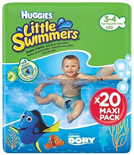 Al agua patos: Pack de 20 Huggies Little Swimmers Talla 3-4