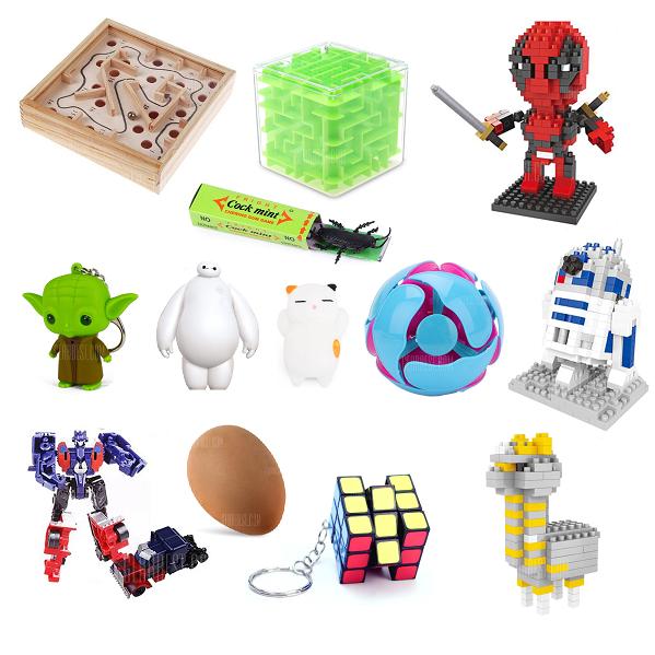 Puzzles, juguetes, llaveros y bromas a menos de 1€