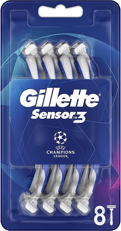Gillette Sensor3 Comfort Maquinilla Desechable Para Hombre, 8 Uds. (Amazon Pantry)