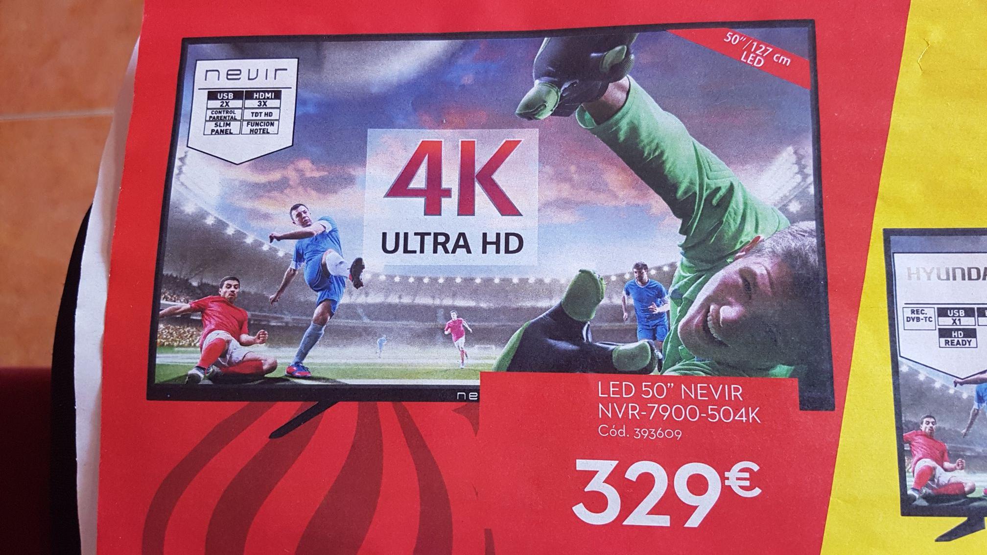 """Televisor Nevir 50"""" 4K Ultra HD"""