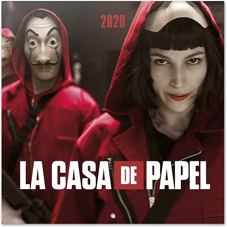 Calendario de pared 2020 (o 12 fotos/posters de LA CASA DE PAPEL 30x30)