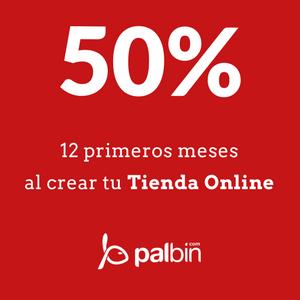 50% Descuento para crear tu tienda online