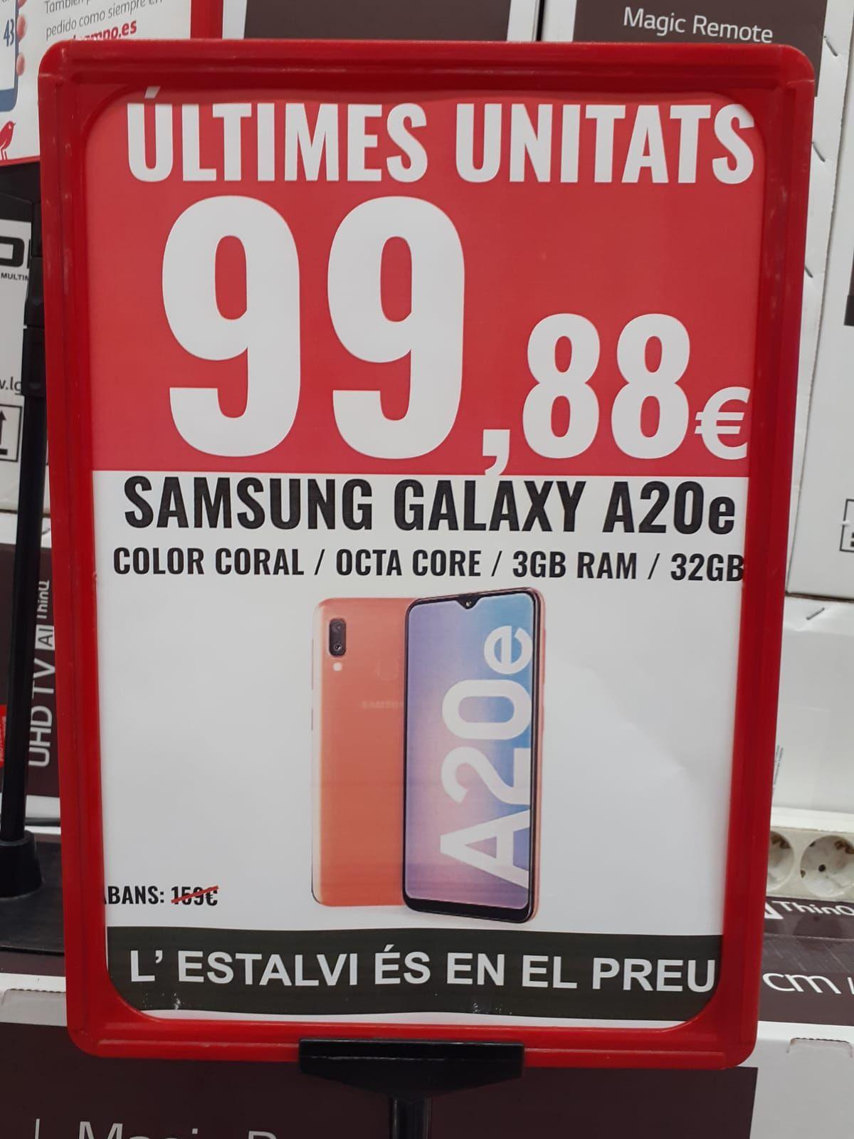 Samsung Galaxy A20e coral (Alcampo Mataró)
