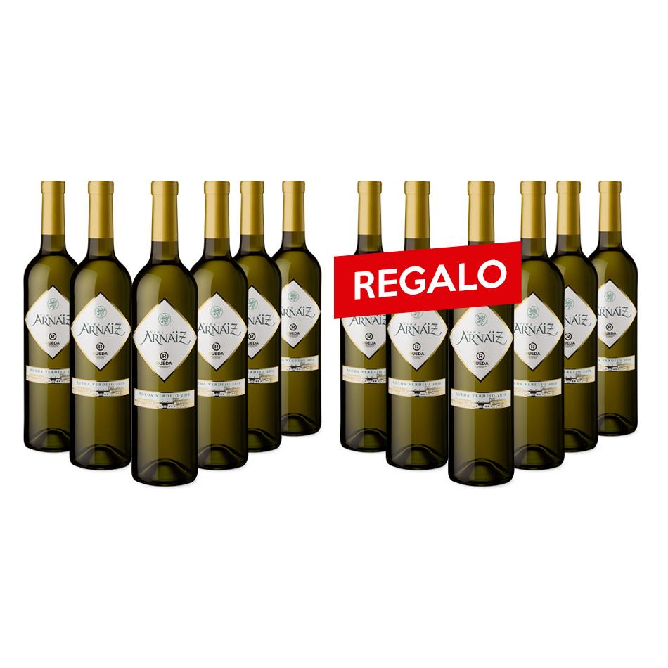 24 botellas de vino. Viña Arnáiz D.O. Rueda Blanco Cosecha 12 botellas + Mayoral D.O.P. Jumilla Tinto Crianza 12botellas