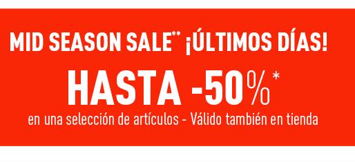 Mid Season Sale hasta 50% en PIMKIE