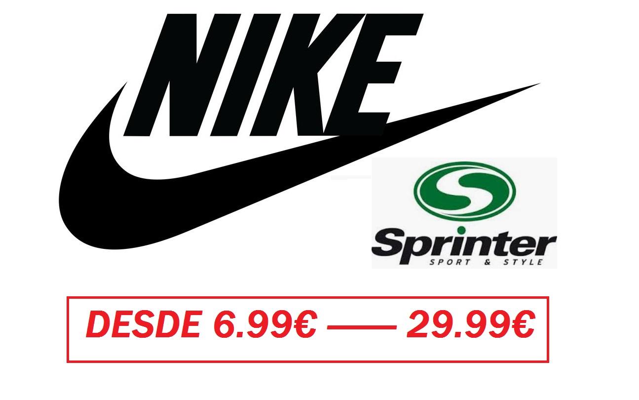 CHOLLOS NIKE EN SPRINTER - Zapas, Camisetas, Gorras, Mochilas y mas (Desde 6.99€ a 29.99€)