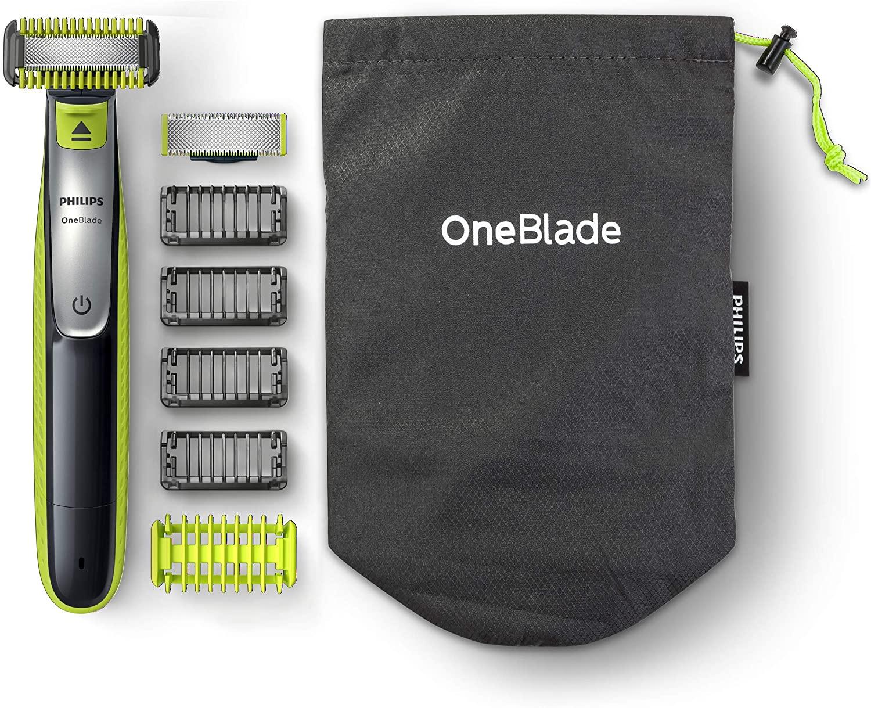 Philips OneBlade Cara y Cuerpo QP2630/30 -Peine-Guía para el Cuerpo, 4 Peines-Guía para Barba de 1, 2, 3 y 5 mm, Uso en Seco y Húmedo