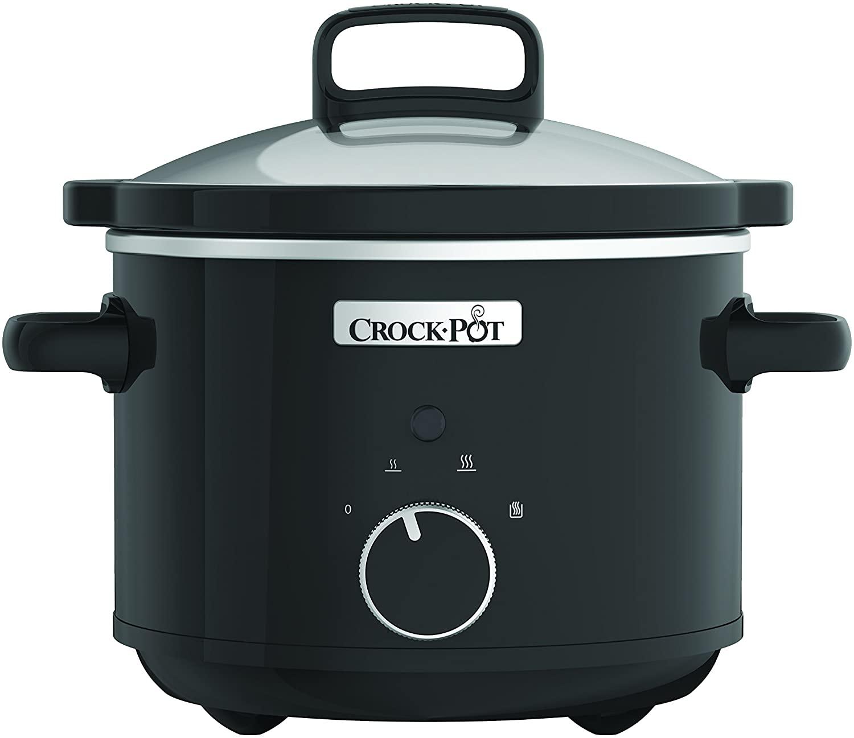 Crock-Pot CSC046X Olla de cocción lenta manual 180 W, 2.4 litros, Acero Inoxidable, Negro